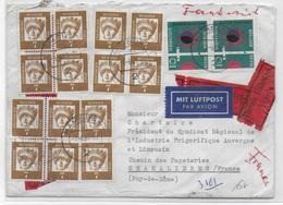 BRD - 1963 - ENVELOPPE EXPRES Par AVION De HAMBURG => CHAMALIERES (PUY DE DOME) - Storia Postale