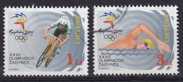 Lietuva 2000, Sports Complete Set Bicycleracing, Swimming, Vfu. Cv 4 Euro - Litauen