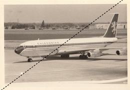 Photo Originale Avion Aviation Boeing 707 320 C Caledonian Zaventem 1970 - Aviazione
