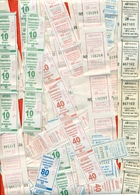 Kazakhstan 2012,18-19. City Karaganda. Lot Of  108  Tickets On Bus. - Monde