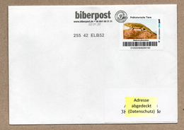 BRD - Privatpost - Biberpost - Prähistorische Tiere - Diadectes Phaseolinus Auf Brief - Briefmarken