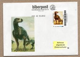 BRD - Privatpost - Biberpost - Prähistorische Tiere - Diatryma Steini Auf Umschlag - Timbres