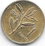 *turkye 1 Kurus 1963  Km 895 Xf+/ms60 - Turkey
