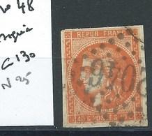 TIMBRE FRANCE - N° 48.  Cote 130€. Signé. - 1870 Emission De Bordeaux