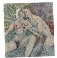 Petite Gravure Erotique 11 Cm Sur 12 - Prints & Engravings