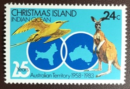 Christmas Island 1983 Australian Territory Anniversary Birds From Set MNH - Birds