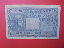 ITALIE 10 LIRE 1944 CIRCULER (B.9) - Italia – 10 Lire
