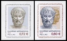 Grecia 2016 Correo 2822/23 200 Aniv. Nacimiento Aristoteles (2v) De Crm  **/MNH - Neufs