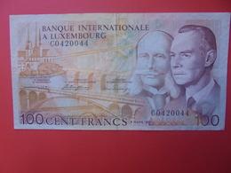 LUXEMBOURG 100 FRANCS 1981 BELLE QUALITE CIRCULER (B.9) - Lussemburgo