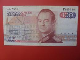 LUXEMBOURG 100 FRANCS 1980 CIRCULER (B.9) - Lussemburgo