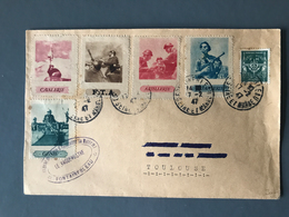 France, FM N°11 + Vignette Propagande Militaire Sur Lettre 1947 - (B1310) - Poststempel (Briefe)