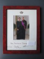 PHOTO DéDICACéE ROYAUTé BELGE (V1927) ALBERT ET PAOLA Le 17/07/2011 (2 Vues) Autographe Albert 2 & Paola - Foto Dedicate