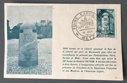 France, Carte-Maximum - Borne De La Liberté - Cachet Foire Exposition METZ - (B1349) - Maximum Cards