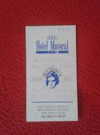 TARJETA DE VISITA CARD PUBLICIDAD PUBLICITARIA O SIMIL ADVERTISING HOTEL MAYORAL PIANO BEETHOVEN BAR TOLEDO MUSIC MÚSICA - Tarjetas De Visita