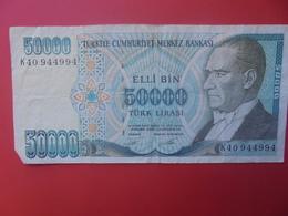 TURQUIE 50.000 LIRA 1995 CIRCULER (B.9) - Turkije