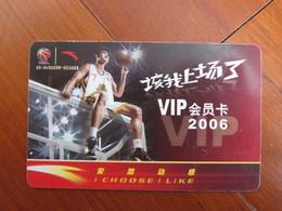 Anta Membership Card 2006,basketball - Schede Telefoniche