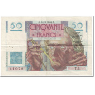 France, 50 Francs, Le Verrier, 1946, 1946-03-14, TB+, Fayette:20.1, KM:127a - 1871-1952 Antiguos Francos Circulantes En El XX Siglo