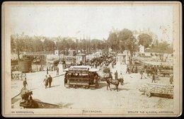 Nederland / Netherlands: Rotterdam, De Koningsbrug (Kabinetfoto) Cca1880 - Plaatsen