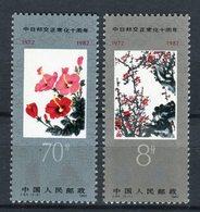 China 1982. Yvert 2541-42 ** MNH. - 1949 - ... République Populaire
