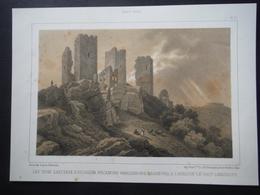 Litho Trois Châteaux D'Egisheim-Eguisheim Et Haut-Landsbourg - Documentos Antiguos
