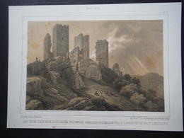 Litho Trois Châteaux D'Egisheim-Eguisheim Et Haut-Landsbourg - Oude Documenten