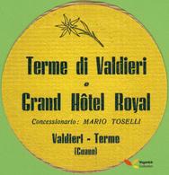 Voyo GRAND HOTEL ROYAL Valdieri - Terme Italy Hotel Label  Sticker 1980s Vintage - Etiquettes D'hotels