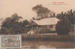 CPA AK Moyen Congo Francais Factorerie Lac Cayo Französisch Kongo Brazzaville Afrique Africa Colonie Colony Timbre Stamp - Französisch-Kongo - Sonstige