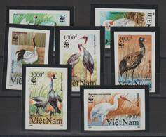 Viet-Nam 1991 Oiseaux 1176-82 7 Val ** MNH Non Dentelé - Vietnam