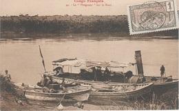 CPA AK Moyen Congo Francais Pleigneur Sur Niari Französisch Kongo Brazzaville Afrique Africa Colonie Colony Timbre Stamp - Französisch-Kongo - Sonstige