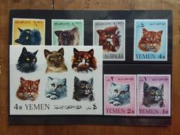 YEMEN - Gatti - Serie + BF Nuovi ** + Spese Postali - Yemen