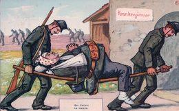 Guerre 14-18, Les Brancardiers Et Le Blessé, Illustrateur GF, Litho (308) - War 1914-18
