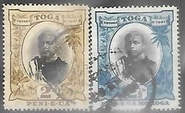 Tonga  1897 Sc#41-2  2d & 2 1/2d  Used  2016 Scott Value $8.60 - Tonga (...-1970)