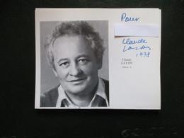 Photo De Programme Signee Claude Laydu Bonne Nuit Les Petits - Autografi