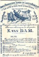 1 Card Pub. Noord Brabandsche Schoen & Laarzen Magazijn N.Van Dam Vondelkade S' Hertogenbosch C1880 Litho - Holanda