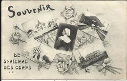 """* Souvenir De SAINT PIERRE DES CORPS , 1915 , + Cachet Au Dos """" GARE DE St PIERRE DES CORPS , COMMISSION MILITAIRE """" - Other Municipalities"""