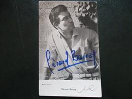 Cp Signee Gerard Barray - Autographes
