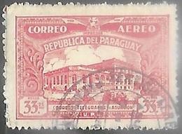 Paraguay  1935  Sc#C85  Airmail Used   2016 Scott Value $5.25 - Paraguay