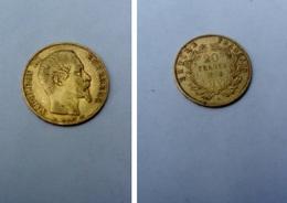 Véritable Pièce De 20 Francs OR Napoléon III 1854 En Super état Voir Photo - France
