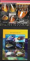 TUVALU, 2019, MNH, MARINE LIFE , FISH, CLOWN FISH, STURGEON FISH, 2 SHEETLETS,  HIGH FV - Fishes