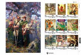 Ukraine 2020, England History, Robin Hood, Archery, Sheetlet Of 9v - Oekraïne