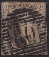 "69- COB/OBP 6 (o)  ""P 80 Marcienne-au-pont"" +5 - 1851-1857 Medaillen (6/8)"