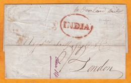 1841 - Folded Letter With Text From  Madras, India, British Colony To London, England - By Overland Mail - ...-1852 Prephilately