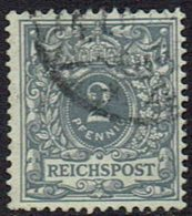 DR,1889,  MiNr 52, Getsempelt - Allemagne