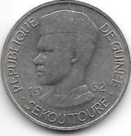Guinea  10 Franc 1962 Km 6   Xf+ /ms60 - Guinea