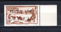 SAINT PIERRE ET MIQUELON N° 250 NEUF SANS CHARNIERE COTE  24.00€  ATTELAGE ANIMAUX  VOIR DESCRIPTION - Neufs