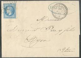 Lettre Affr. 20c. NAPOLEON Obl. GC 2934 De LE PONT DE LARMAURE Le 24 Sept. 1869 Vers Lyon - 14979 - 1863-1870 Napoléon III Lauré