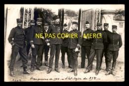 MILITARIA - SOLDATS - CLERES (SEINE-MARITIME) - MANOEUVRES DE 1913 - ETAT MAJOR DU 39E - CARTE PHOTO ORIGINALE - Regiments
