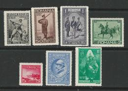 ROMANIA 1931 - ESERCITO Armata -  N. 411 / 17 **  Serie Compl. - Cat. 110,00 € - Lotto N. 2230 - Neufs