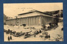 France - Carte Postale - Hérault - Cette - Sete - Les Halles - Sete (Cette)