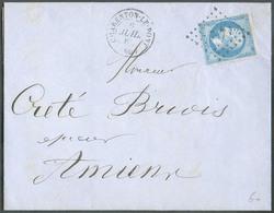 Lettre Affr. 20c. NAPOLEON (TB Margé)  Obl. PC 747 De CHARENTON LE PONT Le 6 Juillet 1862 Vers Amiens - 14983 - 1853-1860 Napoléon III.